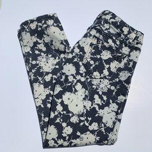 TORY BURCH | Alexa Floral Print Skinny Jeans
